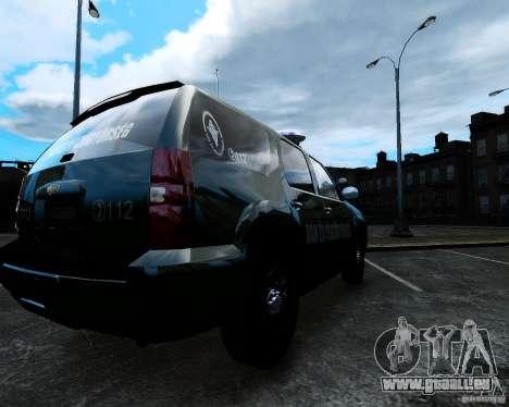 Chevrolet Tahoe Hungarian Vam-Zoll Custom für GTA 4 linke Ansicht