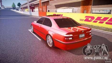 BMW 530I E39 stock chrome wheels pour GTA 4 Vue arrière de la gauche