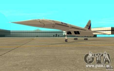 Tu-144 pour GTA San Andreas laissé vue