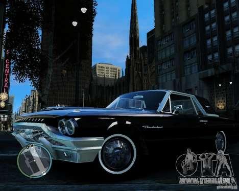 Ford ThunderBird 1964 pour GTA 4 Vue arrière