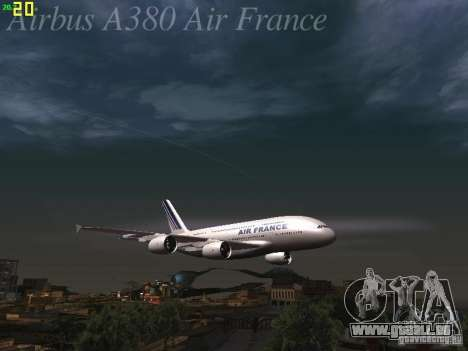 Airbus A380-800 Air France pour GTA San Andreas roue