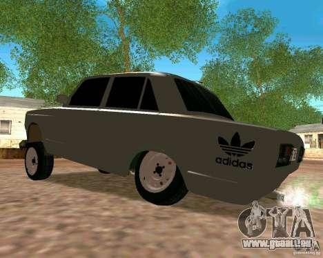 VAZ 2107 voll für GTA San Andreas zurück linke Ansicht