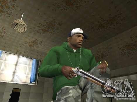 Pak intérieur armes V2 pour GTA San Andreas deuxième écran