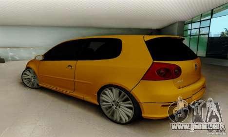 Volkswagen Golf R32 für GTA San Andreas zurück linke Ansicht