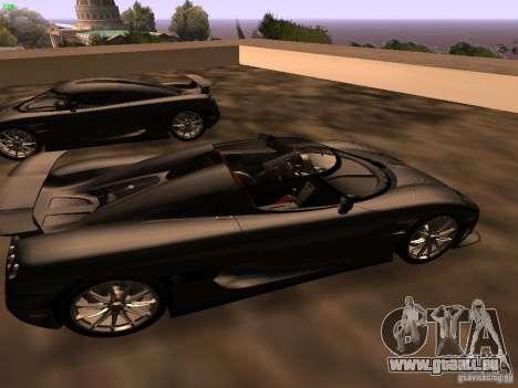Koenigsegg CCXR Edition für GTA San Andreas rechten Ansicht