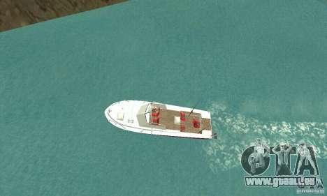 Sports Fishing Boat pour GTA San Andreas sur la vue arrière gauche