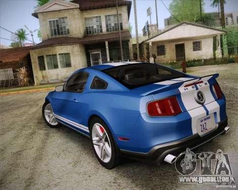 Ford Shelby GT500 2011 pour GTA San Andreas laissé vue