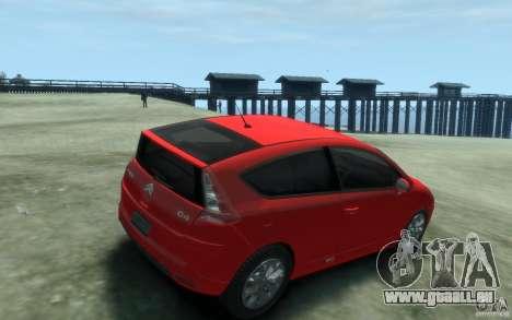 Citroen C4 2009 VTS Coupe v1 für GTA 4 rechte Ansicht