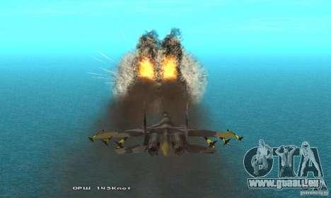 Su-37 Terminator pour GTA San Andreas vue de côté