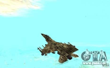 F16C Fighting Falcon für GTA San Andreas linke Ansicht