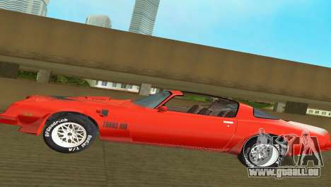 Pontiac Trans Am 77 pour GTA Vice City vue latérale
