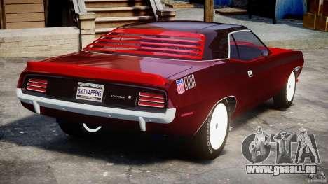 Plymouth Cuda AAR 340 1970 für GTA 4 hinten links Ansicht