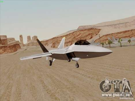 FA22 Raptor für GTA San Andreas