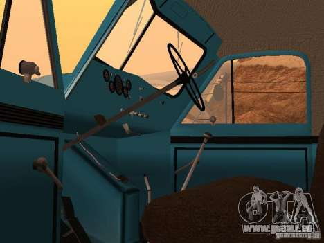 GAZ 51 Müllwagen für GTA San Andreas Rückansicht