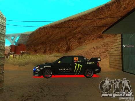 Subaru Impreza Gymkhana Practice pour GTA San Andreas vue de droite