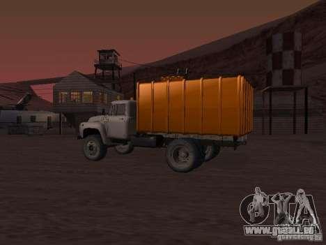 ZIL 431410 camion à ordures pour GTA San Andreas sur la vue arrière gauche