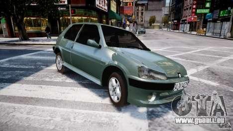 Peugeot 106 Quicksilver pour GTA 4 Vue arrière de la gauche