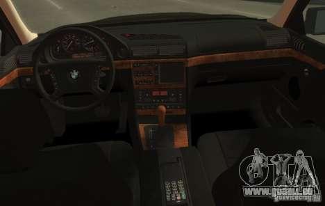 BMW 750i E38 1998 M-Packet pour GTA 4 Vue arrière