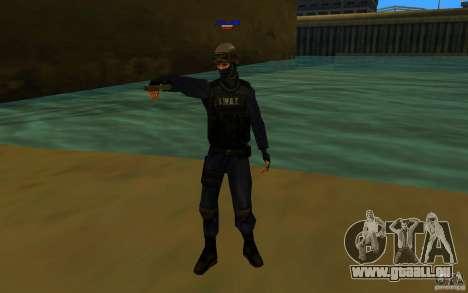 HQ skin S.W.A.T pour GTA San Andreas deuxième écran