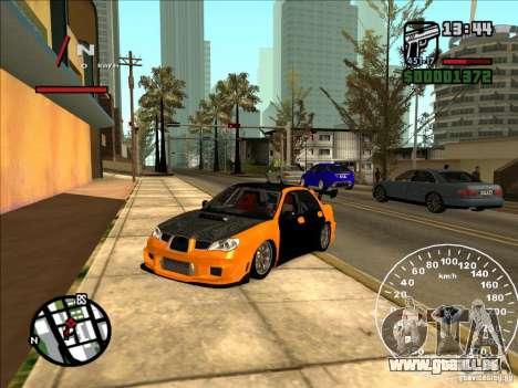 Subaru Impreza WRX Sti 2006 Elemental Attack für GTA San Andreas