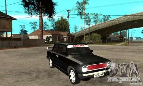Coupé de 2 portes VAZ 2101 pour GTA San Andreas vue arrière