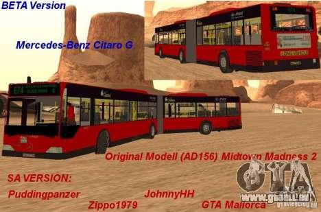 Mercedes-Benz Citaro G pour GTA San Andreas