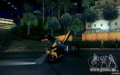 Yamaha YZF R1 pour GTA San Andreas vue de dessus