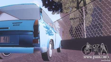 Trabant 601S für GTA San Andreas Innenansicht