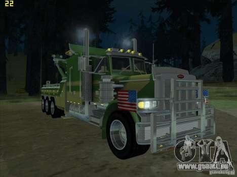 Peterbilt 379 Wrecker pour GTA San Andreas laissé vue