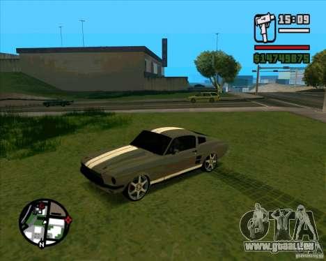 Ford Mustang 67 HotRot pour GTA San Andreas vue de droite