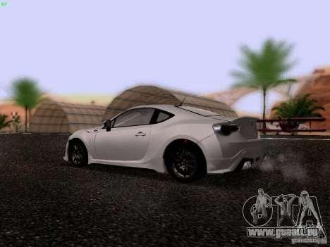 Toyota 86 TRDPerformanceLine 2012 pour GTA San Andreas vue de droite