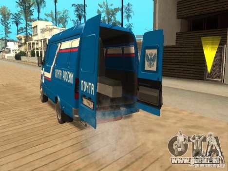 Courrier de Gazelle 2705 de Russie pour GTA San Andreas vue arrière