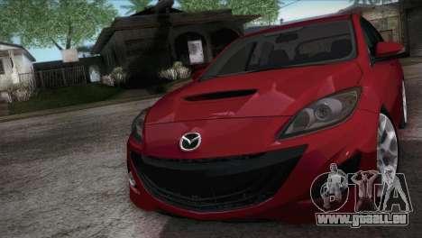 Mazda Mazdaspeed3 2010 für GTA San Andreas rechten Ansicht