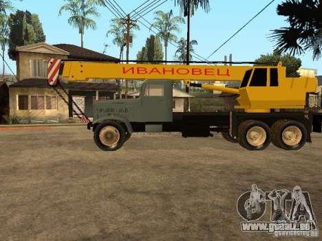 Camion KrAZ pour GTA San Andreas laissé vue