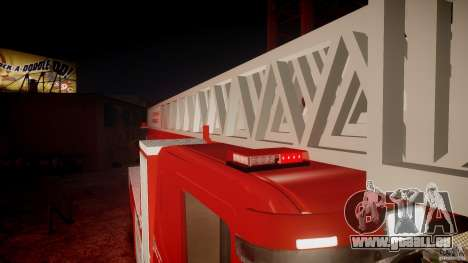 Scania Fire Ladder v1.1 Emerglights red [ELS] pour le moteur de GTA 4
