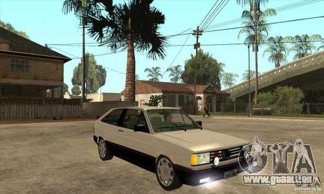 VW Gol GTS 1989 pour GTA San Andreas vue arrière