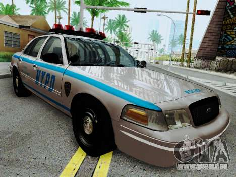 Ford Crown Victoria 2003 NYPD White pour GTA San Andreas vue arrière