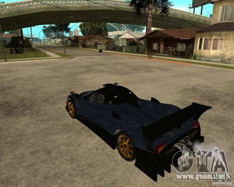 Pagani Zonda R für GTA San Andreas linke Ansicht