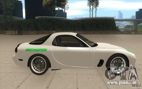 Mazda FD3S - Ebisu Style pour GTA San Andreas vue intérieure