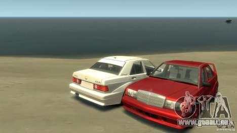 Mercedes-Benz 190E für GTA 4 hinten links Ansicht