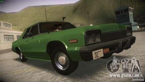 Dodge Monaco pour GTA San Andreas sur la vue arrière gauche