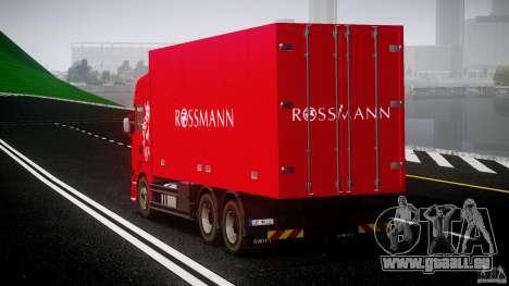 Scania R580 Tandem pour GTA 4 est une vue de l'intérieur
