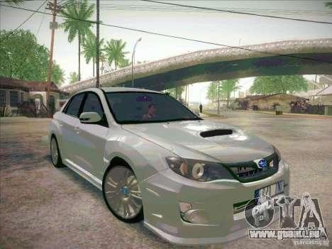 Subaru Impreza WRX STI 2011 Sedan pour GTA San Andreas vue de droite