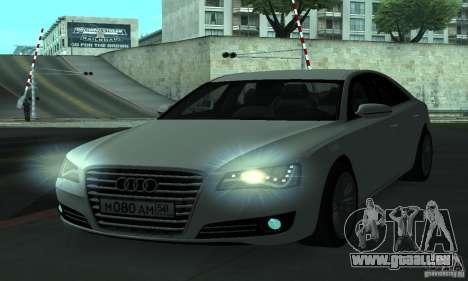 Audi A8 pour GTA San Andreas vue de côté