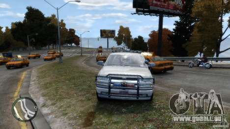 Chevrolet Suburban 2006 Police K9 UNIT für GTA 4 Rückansicht
