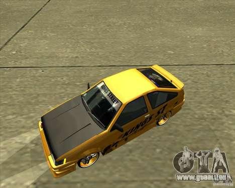 Toyota AE86 Levin für GTA San Andreas obere Ansicht