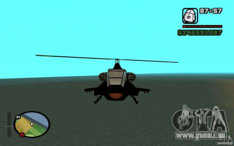 Urban Strike helicopter für GTA San Andreas linke Ansicht