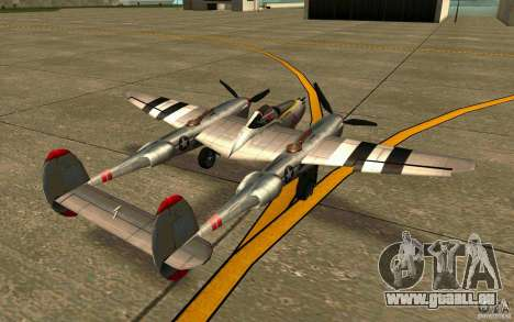 P38 Lightning für GTA San Andreas zurück linke Ansicht