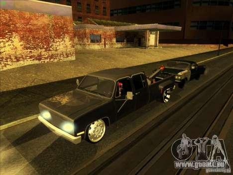 Chevrolet Silverado Towtruck für GTA San Andreas obere Ansicht