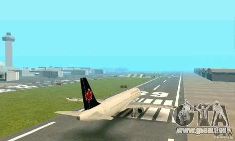 Airbus A321 Air Canada für GTA San Andreas Rückansicht